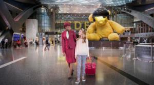 bambini in aereoporto quatar airways