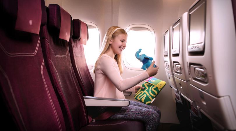 quatar airways viaggiare in aereo con i bambini