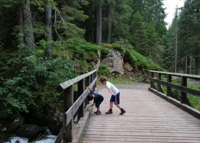 montagna con i bambini